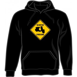 hooded jumper 'Scooter Crossing' black - sizes S - 3XL