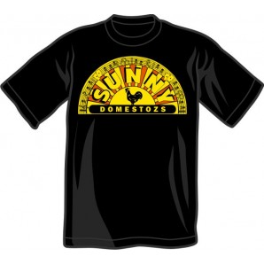 T-Shirt 'Sunny Domestozs' black - old school version! - all sizes