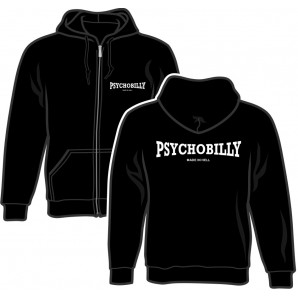 Zipper Jacket 'Psychobilly Made In Hell' black, sizes S - 2XL