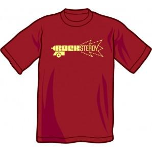T-Shirt 'Rocksteady Gun' burgundy, sizes S - XXL