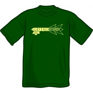 T-Shirt 'Rocksteady Gun' bottle green, sizes S - XXL