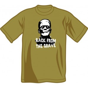 T-Shirt 'Back From The Grave' olive green, all sizes
