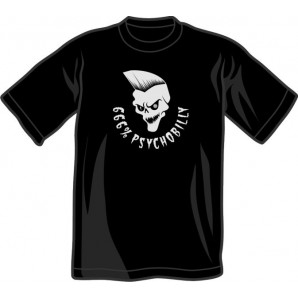 T-Shirt '666% Psychobilly' black, all sizes