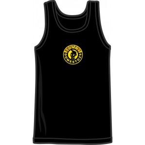 tanktop'Sunny Domestozs' black, all sizes