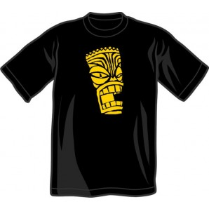 T-Shirt 'Tiki' black all sizes