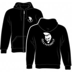 Zipper Jacket '666% Psychobillyl' black, sizes S - 2XL