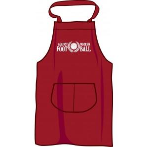 BBQ apron 'Against Modern Football', burgundy