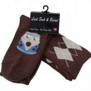 Warrior Socksteady Socks Pack of 2 'Argyle Chocolate Camper' - 2pk