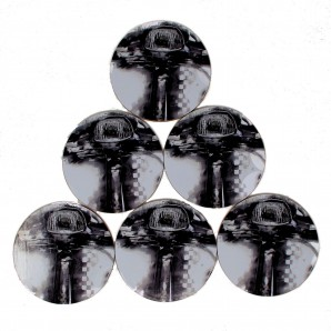 Warrior  Set of 6 Coasters '2 Tone Scooter'
