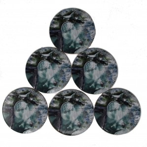 Warrior  Set of 6 Coasters 'Vespa'
