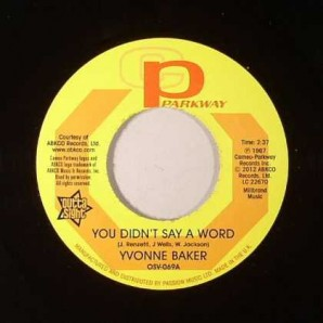 Baker, Yvonne 'You Didn't Say A Word' + Hattie Winston 'Pictures Don't Lie'  7""