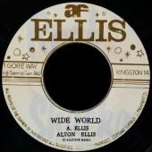 "Ellis, Alton 'Wide World' + 'Dedication'  7"""