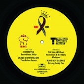 """Hotknives 'Razorblade Alley' +Crabs Corporation 'The Opium Eater' +The Values 'Madness' +Rude Boy George 'Driving in My Car' 7"""" ltd. white vinyl"""