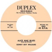 Sonny Boy Williams 'Alice Mae Blues' +  'Opossum Rock'  7""