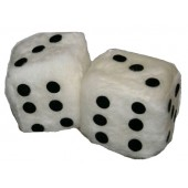 dices for the car - white