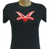 Girlie Shirt 'Cock Sparrer' - black, all sizes