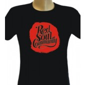 Girlie Shirt 'Red Soul Community' black, sizes S + M