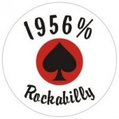 fridge magnet '1956 % Rockabilly' 43 mm
