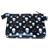 purse 'Cherries + Skull'