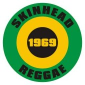 Button 'Skinhead Reggae'  green/black/yellow