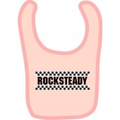 baby bib 'Rocksteady' rose