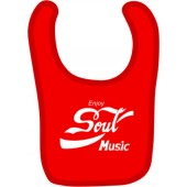baby bib 'Enjoy Soul Music' red