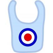 baby bib 'Target' light blue