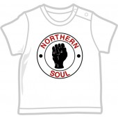 Kids Shirt 'Northern Soul' red/black on white, all sizes