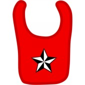 baby bib 'Nautic Star' red