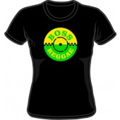 Girlie Shirt 'Boss Reggae' black, all sizes