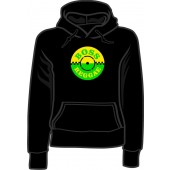 Girlie hooded jumper 'Trojan Records' black, all sizes