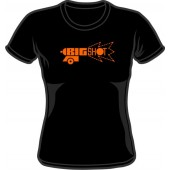 Girlie Shirt 'Big Shot' black, all sizes