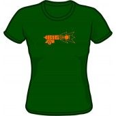 Girlie shirt 'Big Shot' bottle green, all sizes