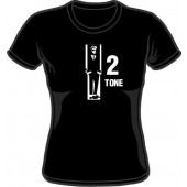 Girlie Shirt 'Two Tone' black, all sizes