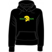girlie hooded jumper 'Trojan Skins' black, all sizes