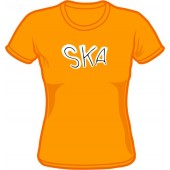 Girlie Shirt 'Ska' orange, all sizes