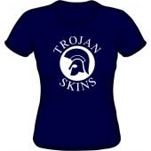 Girlie Shirt 'Trojan Skins' - navy blue, all sizes