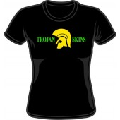 Girlie Shirt 'Trojan Skins' black, all sizes