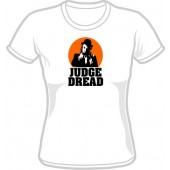 Girlie Shirt 'Judge Dread' white, sizes small - XL