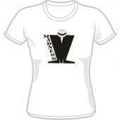 T-Shirt 'Madness' Logo black on white, all sizes