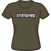 Girlie Shirt 'Intensified' - dark grey, all sizes