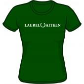 Girlie Shirt 'Laurel Aitken' flock bottlegreen, sizes S - XL