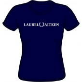 Girlie Shirt 'Laurel Aitken' flock navy, sizes S - XL