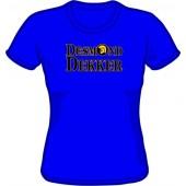 Girlie shirt 'Desmond Dekker' royal blue, all sizes