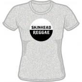 Girlie Shirt 'Skinhead Reggae' heather grey, all sizes