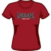Girlie Shirt 'Rocksteady - Since 1967' burgundy, all sizes