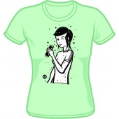 Girlie Shirt 'CHema Skandal! - Renee Girl' mint - sizes S - XL