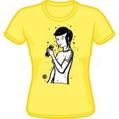 Girlie Shirt 'CHema Skandal! - Renee Girl' pale yellow - sizes S - XL