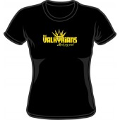 Girlie Shirt 'Valkyrians' black, sizes small, medium