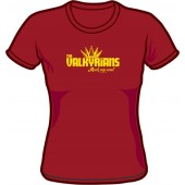 Girlie Shirt 'Valkyrians' burgundy, sizes S - XXL